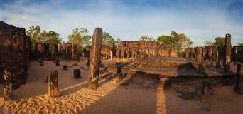 Panorama of ancient ruins in Polonnaruwa, Unesco, Srilanka Royalty Free Stock Photography