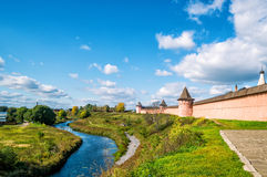 Panorama of the ancient town of Suzdal, Russia Stock Images