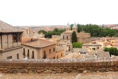 Panorama of the ancient town of Toledo (Unesco), Spain, Europe Stock Photos