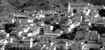 Panorama of Andalusian white village. Spain Royalty Free Stock Images