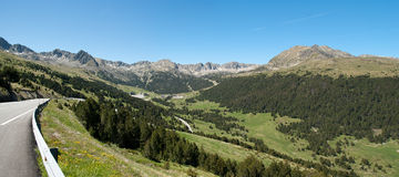 Panorama of Andorra Pyrenees Stock Photo
