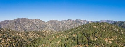 Panorama of Angeles National Forest Mountains Royalty Free Stock Image