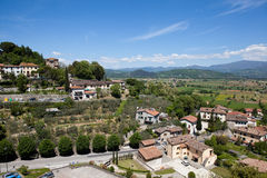 Panorama Anghiari. Italy. Stock Photo