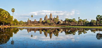 Panorama of Angkor Wat Royalty Free Stock Photos