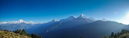 Panorama- Annapurna, Nepal Fotografering för Bildbyråer