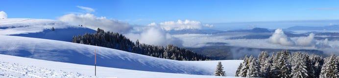 Panorama-Ansicht von Semnoz-Berg Lizenzfreies Stockfoto