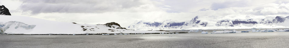 Panorama of Antarctica Peninsula Stock Image