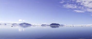Panorama Antarctisch Geluid Stock Foto