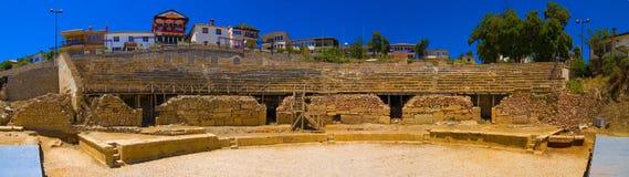 Panorama antico del amphitheatre Fotografia Stock