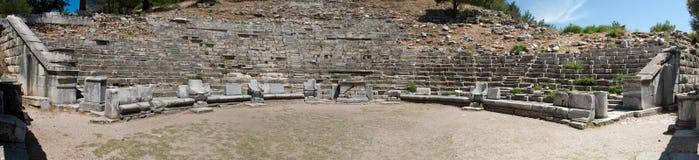 Panorama antico del teatro Fotografia Stock Libera da Diritti