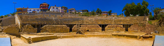 Panorama antigo do amphitheatre foto de stock