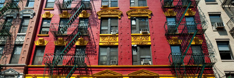 Panorama of apartment building Royalty Free Stock Photo