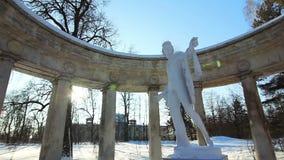 Panorama of Apollo Colonnade in Pavlovsk Stock Photo