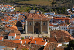 Panorama Aracena. Aracena is a town and municipality located in the province of Huelva, south-western Spain Royalty Free Stock Photo