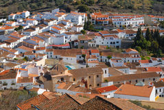 Panorama Aracena. Aracena is a town and municipality located in the province of Huelva, south-western Spain Stock Photos