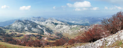 Panorama of Aramotz mountain range. Basque Country Royalty Free Stock Photo