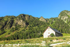 Panorama of Aran valley, Spain Royalty Free Stock Images