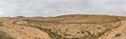 Panorama of Arava deser Stock Image