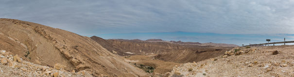 Panorama of Arava deser Stock Photography