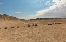 Panorama of Arava deser Royalty Free Stock Photo
