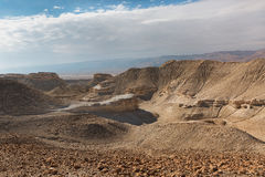 Panorama of Arava deser Stock Photos