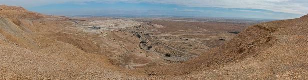 Panorama of Arava deser Royalty Free Stock Photos