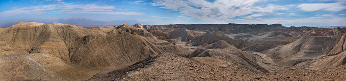 Panorama of Arava deser Royalty Free Stock Image