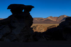 Panorama of Arbol de Piedra at sunset. Altiplano, Bolivia Stock Photo