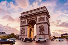 Paris, Arc de Triomphe Stock Image