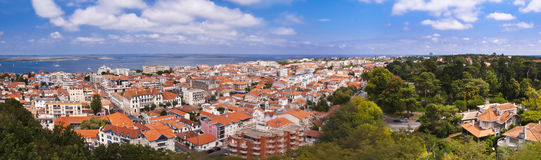 Panorama of Arcachon. Panorama of the city of Arcachon, France Stock Image