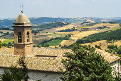 Panorama from Arcevia royalty free stock image
