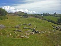 Drombeg Stone Circle Archaeological Site, Ireland. stock photo