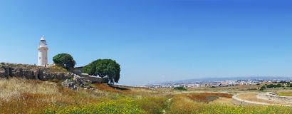 Panorama of Archeological park in Paphos Stock Images