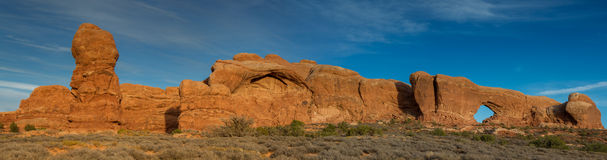 Panorama of the Arches National Park Stock Image