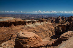 Panorama of the Arches National Park Stock Images