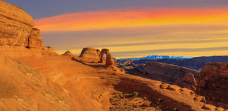 Panorama of Arches National Park Royalty Free Stock Photos