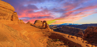 Panorama of Arches National Park Royalty Free Stock Photography