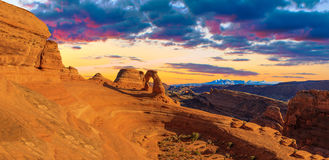 Panorama of Arches National Park Stock Photo