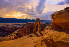 Panorama of Arches National Park Royalty Free Stock Photo