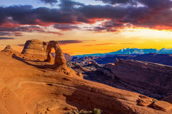 Panorama of Arches National Park Stock Image