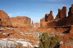 Panorama of Arches National Park, Utah, USA Royalty Free Stock Photography