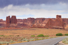 Panorama from Arches National Park, Utah. USA Stock Photo