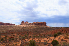 Panorama from Arches National Park, Utah. USA Stock Image