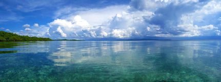 Panorama in the archipelago of Bocas del Toro Royalty Free Stock Images