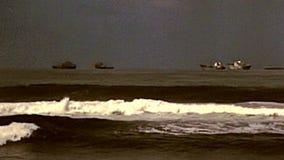 Panorama archivistique de plage de Durban banque de vidéos