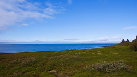 Panorama of the Arctic Coast Stock Photography