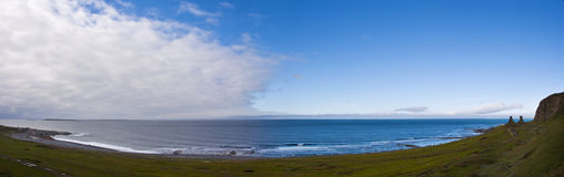 Panorama of the Arctic Coast Royalty Free Stock Photography