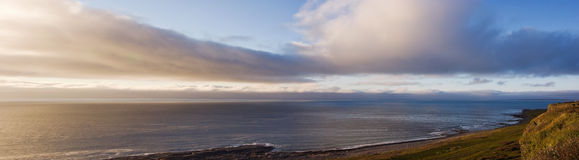 Panorama of the Arctic Coast Royalty Free Stock Photo