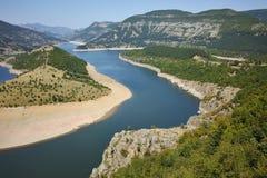 Panorama of Arda River  and Kardzhali Reservoir, Bulgaria Stock Photos