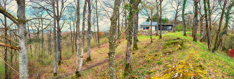Panorama in Ardennes country side Royalty Free Stock Photos